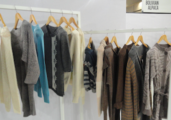 Part of collection at Bolivian Alpaca CBI stand 2013