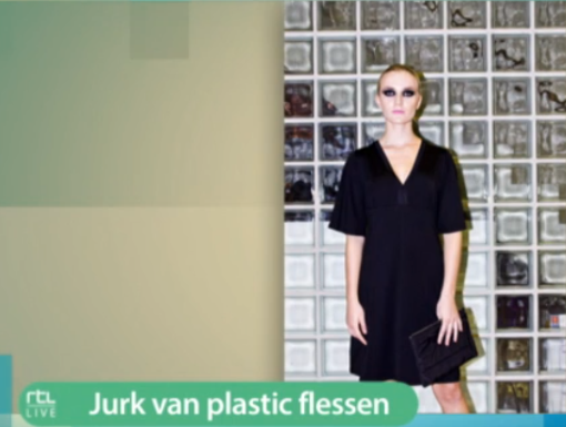 Recycled plastic flessen dress
